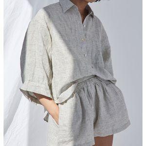 Deiji Studios pinstripe 03 sleepwear set s/m